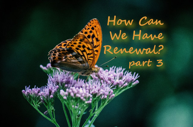 How Can We Have Renewal?